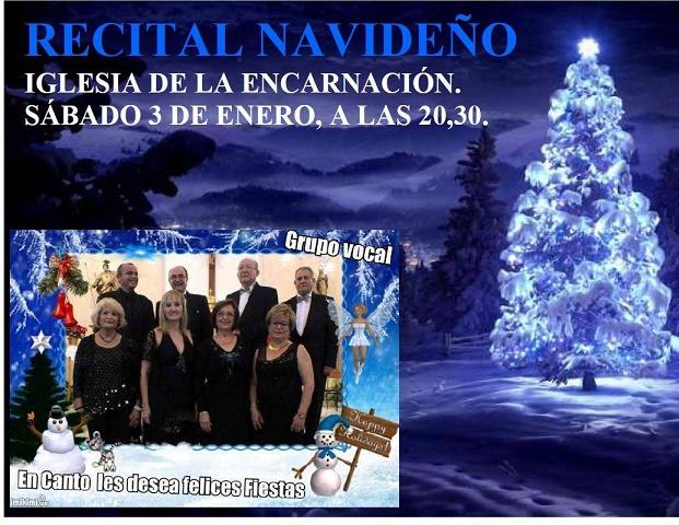 """Recital navideño del grupo """"En canto"""" el día 3 de enero en la Iglesia Mayor"""