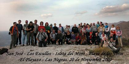 El Club de Amigos sin Límite estuvo haciendo senderismo por Cabo de Gata