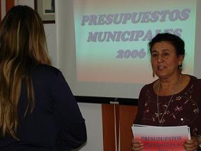 Laura Díaz ha presentado el anteproyecto de presupuestos para 2006, que dedicará más de 26 millones de euros en inversiones