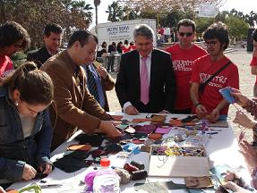 Pedro Alvarez y el coordinador del Instituto Andaluz de la Juventud inauguran el VIII Encuentro Joven
