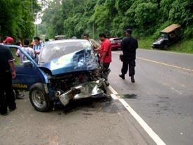 Dos muertos en un accidente de carretera en la N-323 a la altura de Vélez de Benaudalla