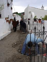 Comienzan las obras de urbanización de las calles del anejo de La Garnatilla