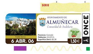 Almuñécar se promociona en el cupon de la ONCE del día 6 de abril