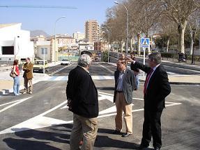 Pedro Álvarez inaugura la primera fase de la Ronda del Medio Día, entre la Ronda de las Piscinas y Alcampo
