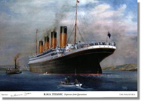 Homenaje del Titánic en aguas de Motril