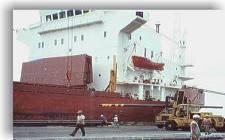 Un estibador herido mientras manipulaba mercancías en el puerto de Motril
