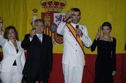 La Princesa Asturias destaca el papel de las Fuerzas Armadas en la defensa de los Derechos Humanos