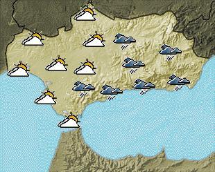 Tiempo revuelto en la provincia de Granada. En la costa el jueves amaneció con sol y viento