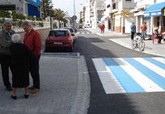 Visita del alcalde de Motril a las obras de urbanización, saneamiento, abastecimiento y alumbrado de Calahonda