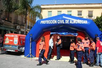 PROTECCION CIVIL DE ALMUÑECAR CUENTA CON UN PUESTO DE CAMPAÑA