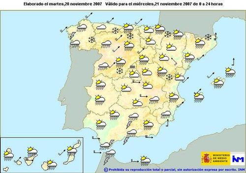 Alerta naranja en la provincia de Granada a causa de las lluvias