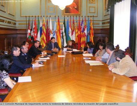 La I Comisión Municipal de Seguimiento contra la Violencia de Género reivindica la creación del juzgado específico