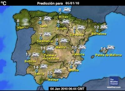 Se reduce ostensiblemente la posibilidad de que llueva en la noche del 5 de enero en la Costa de Granada