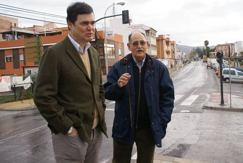El alcalde visita las zonas más afectadas por las lluvias caídas estos días