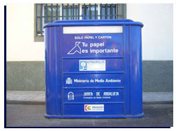 Diputación garantiza la recogida selectiva de papel y cartón en la Alpujarra