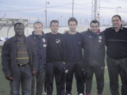 Los técnicos del At de Madrid salen gratamente sorprendidos del clinic de la Mojonera CF