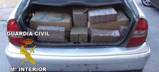 La Guardia Civil se incauta de 670 kilos de hachís en Almuñécar