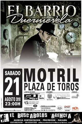 En Barrio el 21 de agosto en la Plaza de Toros de Motril