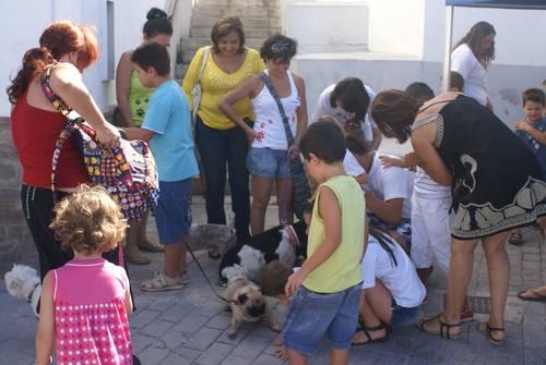 Un treintena de niños motrileños reciben terapia asistida con perros