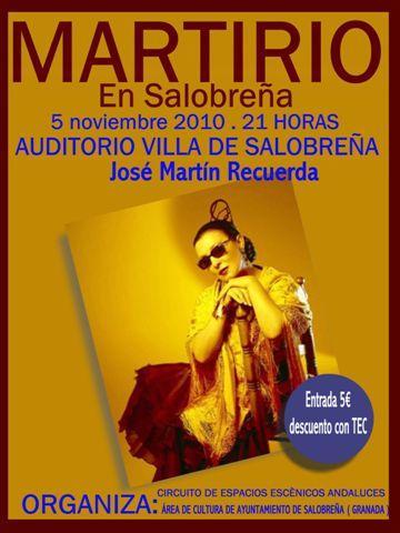 Martirio actuará el 5 de noviembre en Salobreña
