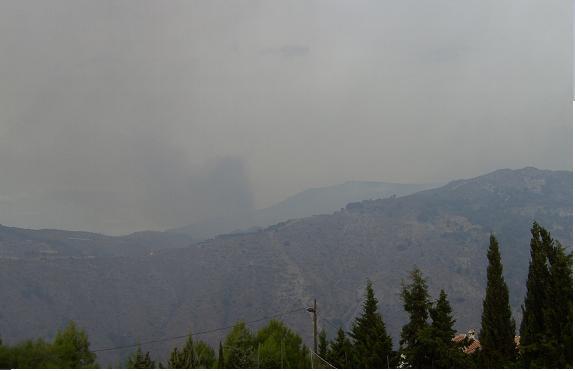 El incendio de Los Guajares podría haber sido intencionado