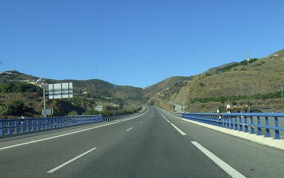 La N-340, entre Nerja y Almuñécar, el tramo con más riesgo
