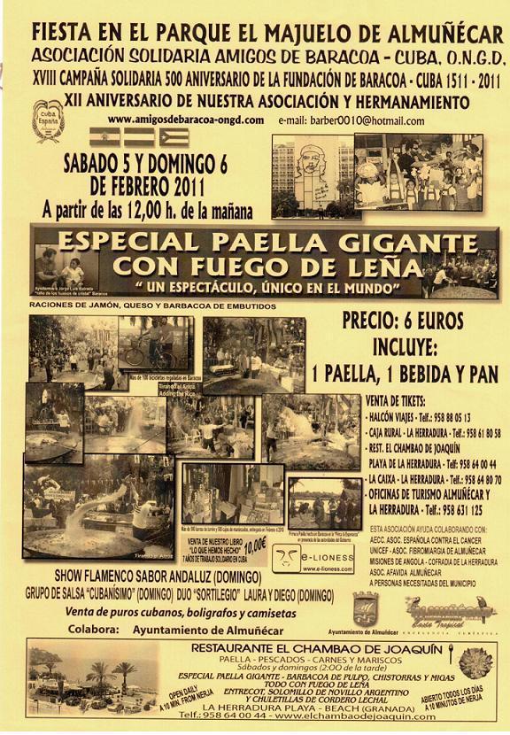 La Asociación Solidaria Amigos de Baracoa de Almuñécar desarrolla su XVIII edición en favor del pueblo cubano