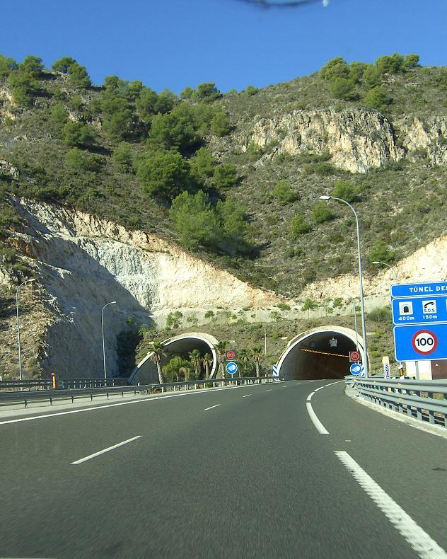 Desde mañana martes el radar del túnel de Torrox (A-7), comenzará a multar para vehículos que circulen a más de 100Km/h