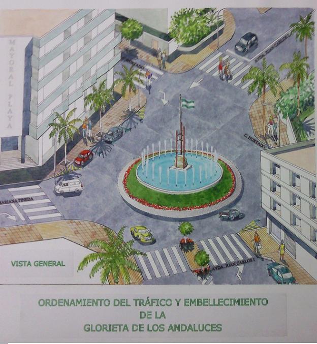 Urbanización de las Glorieta de los Andaluces en Almuñécar