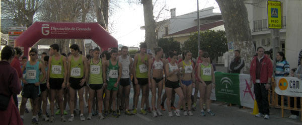 Dos centenares de atletas en el campeonato andaluz de Marcha de Vélez de Benaudalla