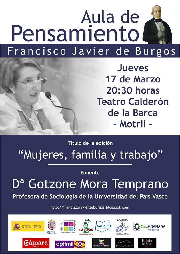 Gotzone Mora en el Aula de Pensamiento Francisco Javier de Burgos de Motril