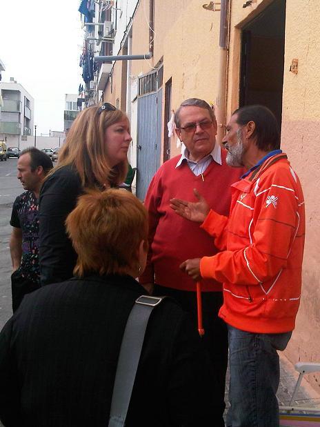 Flor Almón reclama un plan de actuación integral en el barrio de Huerta Carrasco para acabar con la situación de marginación