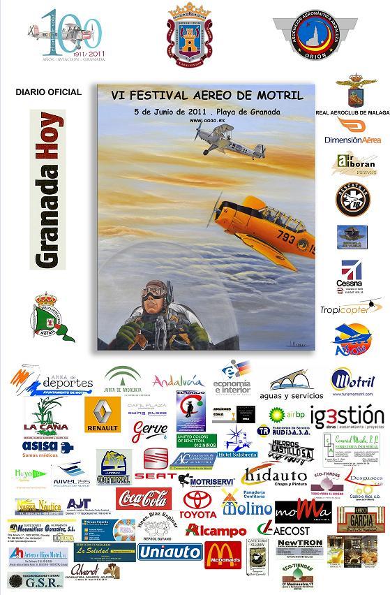 El VI Festival aéreo surcará el cielo de Motril el próximo 5 de junio