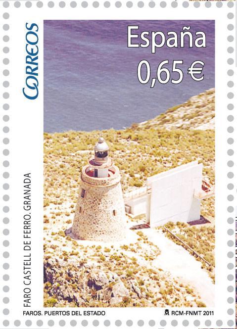 El faro de Castell de Ferro en un sello de Correos de 0,65 Euros