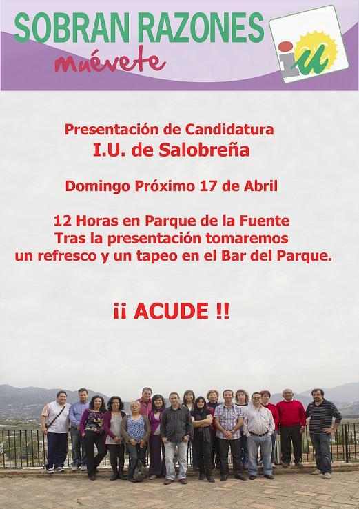 IU Salobreña presenta su candidatura a las municipales con Angel Coello de cabeza de lista