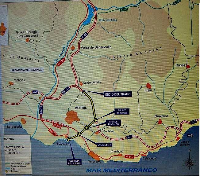 El Gobierno destina más de 46 millones de euros a las obras del tramo La Gorgoracha-El Puntalón de la A-7