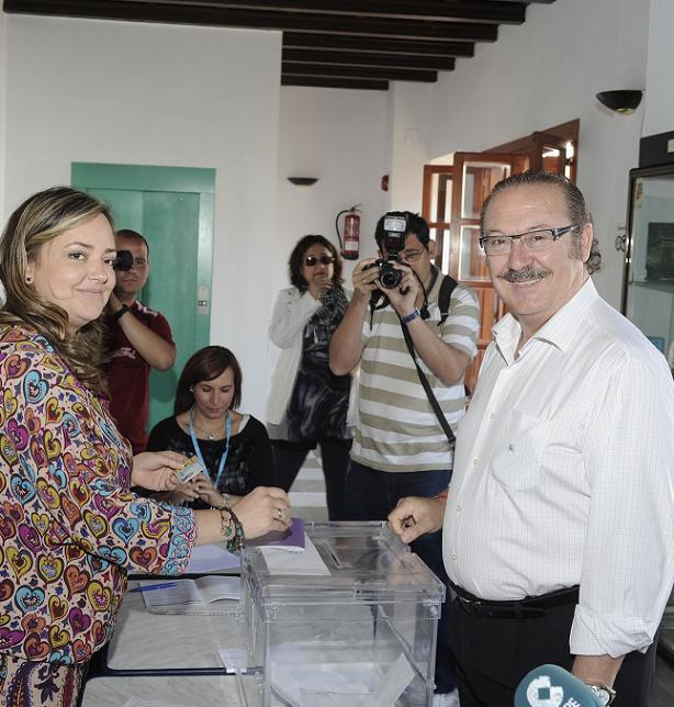 A las 10,30 votaba Luis Manuel Rubiales (CA) en  La Palma