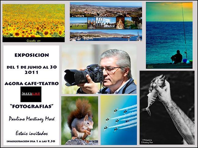 Exposición fotográfica de Paulino Martínez Moré en el Agora Café