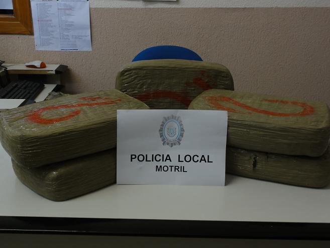 La Policía Local de Motril se incauta de más de 33 kilos de hachís