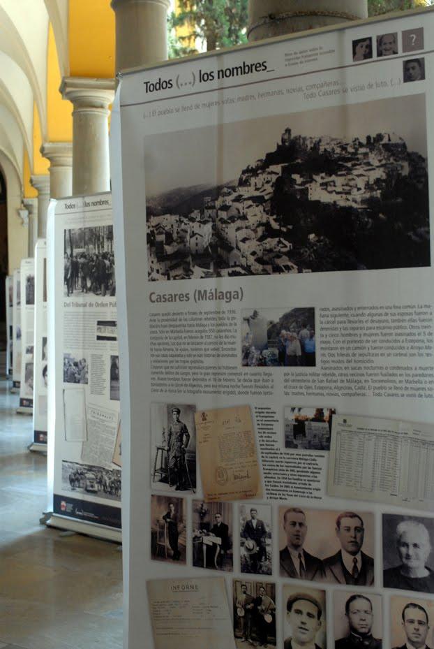 """CGT de la Costa de Granada trae a Motril la exposición """"Todos (...) los Nombres"""""""