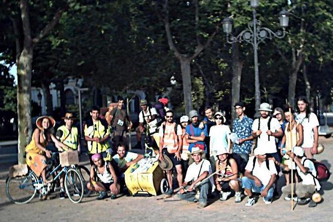 Los motrileños del 15-M camino de Madrid en fotos