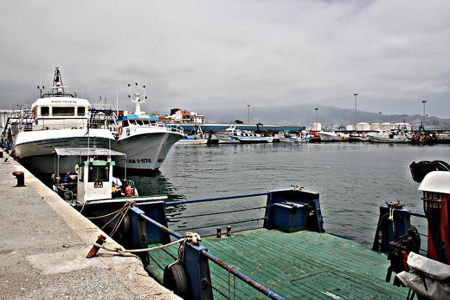 Localizan en el fondo del puerto pesquero de Motril 300 kilos de hachís