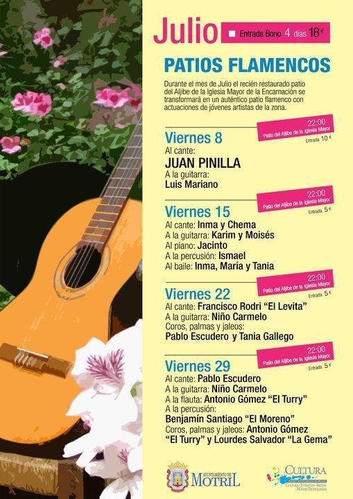 Cuatro magníficas jornadas flamencas tendrá Patios Flamencos de Motril en julio