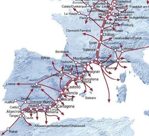 Varias instituciones se unen para reclamar a la CE el corredor Mediterráneo