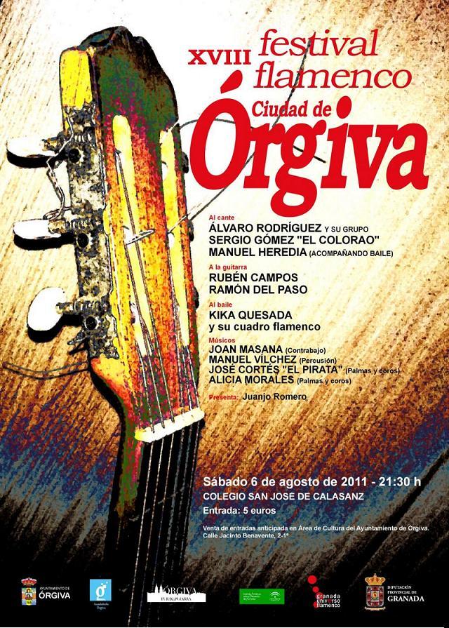 XVIII edición del Festival Flamenco Ciudad de Órgiva