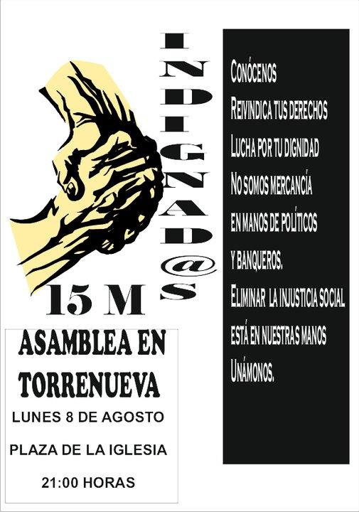 El 15-M Motril se concentra este lunes en la plaza de la Iglesia de Torrenueva