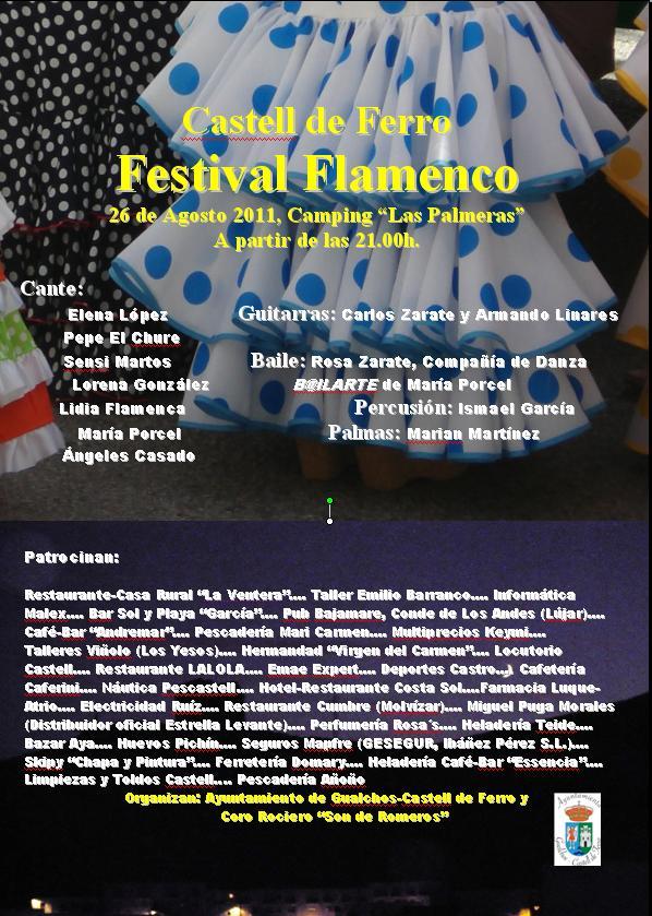 Festival Flamenco en Castell de Ferro en el camping Las Palmeras