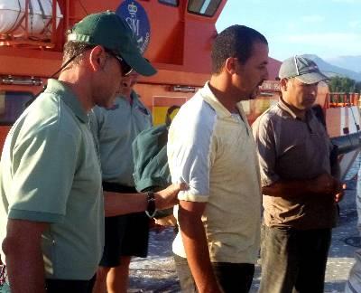 Rescatados siete inmigrantes en la costa de Motril