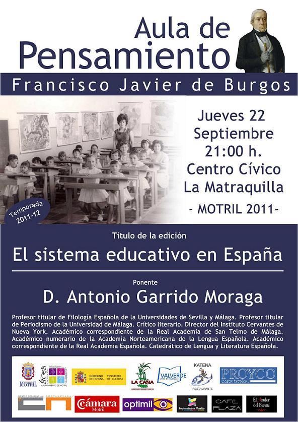 Antonio Garrido Moraga en el Aula de Pensamiento
