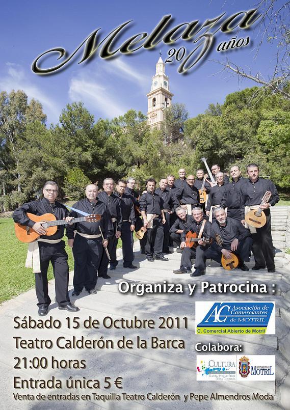 Melaza actuará el 15 de octubre en el Teatro Calderón de la Barca de Motril